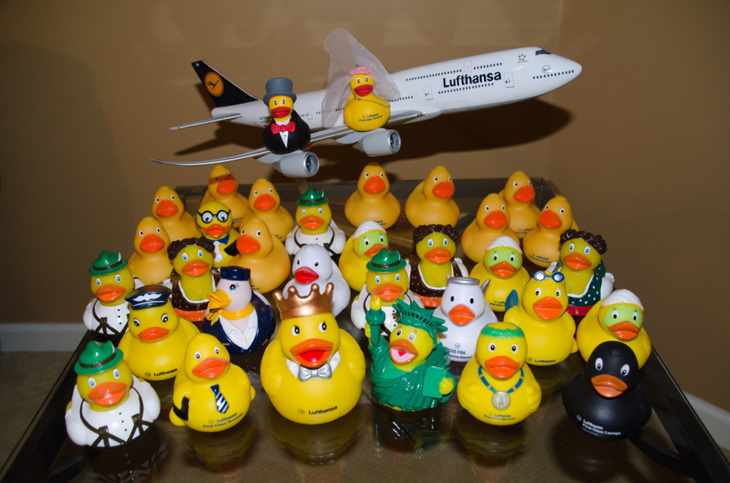Don't forget to get your Souvenir Duck from a First Class Lounge in Germany or the 'FCT' in Frankfurt!