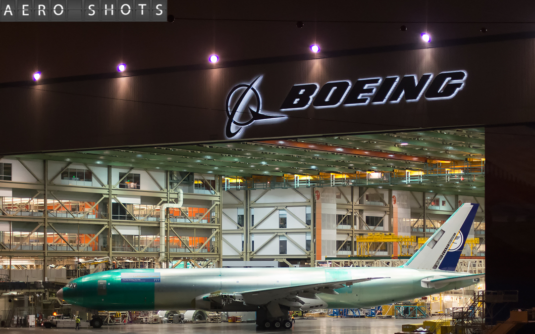 LUFTHANSA CARGO:  The newest (& LH's last) 777 Freighter, D-ALFE, enters FINAL ASSEMBLY